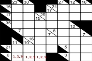 Math games cross sums kakuro - Kakuro cross sums combinations table ...